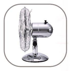 Ventilateur de table Chromy 30/40 cm côté