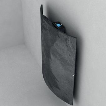 Radiateur carré DUAL KHERR CURVE 2.0 Silex Dark profil