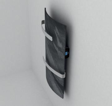 Sèche-serviette vertial DUAL KHERR CURVE 2.0 Silex Dark profil