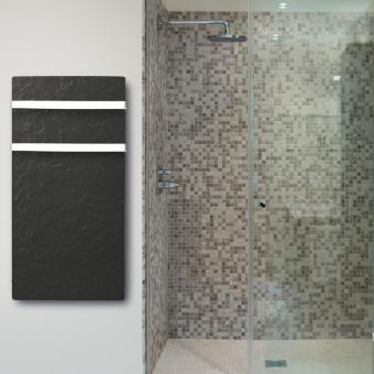 DUAL KHERR SMART 2.0 - Sèche-serviettes ardoise noire ambiance