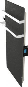 DUAL KHERR SMART 2.0 - Sèche-serviettes ardoise noire profil droit