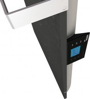 DUAL KHERR SMART 2.0 - Sèche-serviettes ardoise noire contrôleur côté