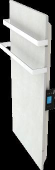 DUAL KHERR SMART 2.0 - Sèche-serviettes sable blanc profil droit