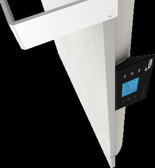 DUAL KHERR SMART 2.0 - Sèche-serviettes sable blanc contrôleur côté