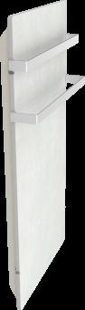 DUAL KHERR SMART 2.0 - Sèche-serviettes sable blanc profil gauche