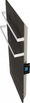 DUAL KHERR SMART 2.0 - Sèche-serviettes terre lunaire profil droit