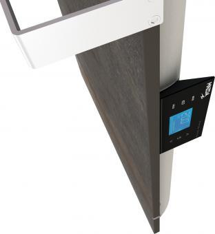 DUAL KHERR SMART 2.0 - Sèche-serviettes terre lunaire contrôleur côté